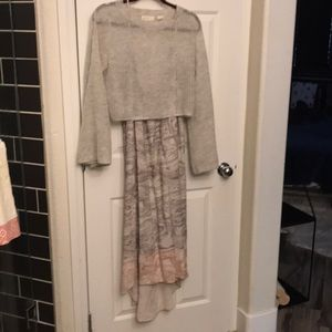 Anthropologie layered dress with sweater
